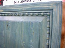 Molding decorated doorpanel of built in furniture